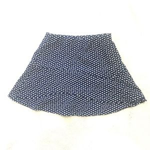 Aqua patterned mini skirt